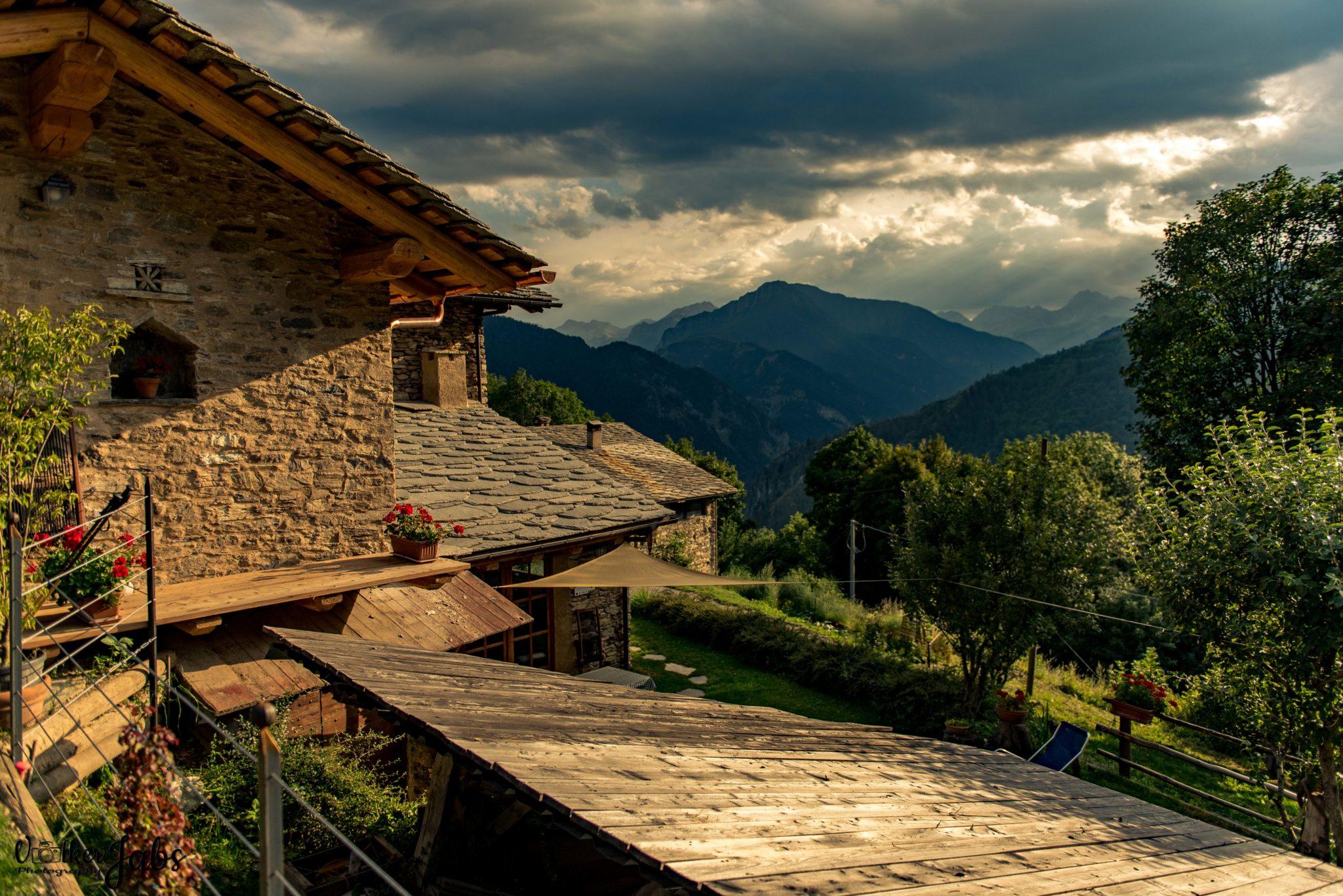 Abendstimmung im Valle Maira