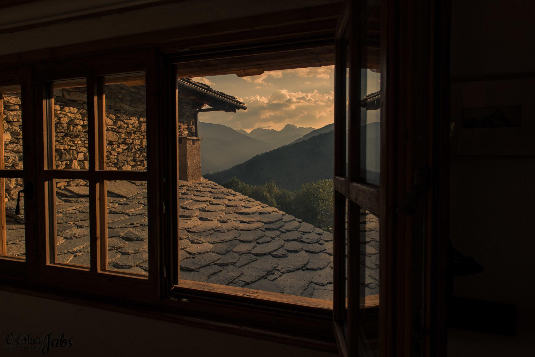 Sonnenuntergang im Valle Maira